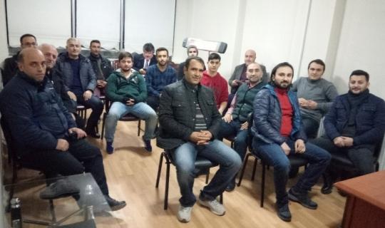 Van Trabzonsporlular Derneği yönetimi üyeleri ile bir araya geldi