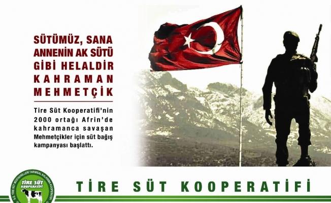 Sütlerinin geliri Mehmetçiğe