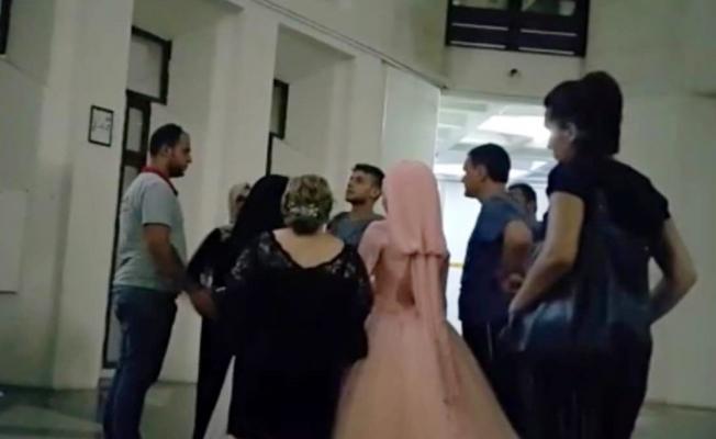 Düğün konvoyuna baskın: Damat cezaevine gelin evine