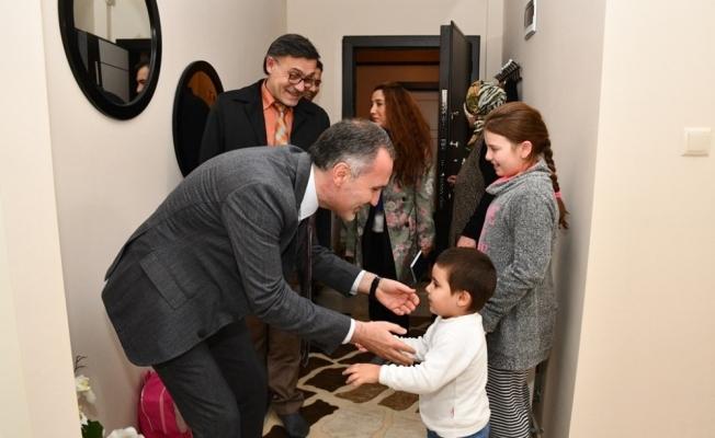Başkan Taban'dan engelli ailelere ziyaret