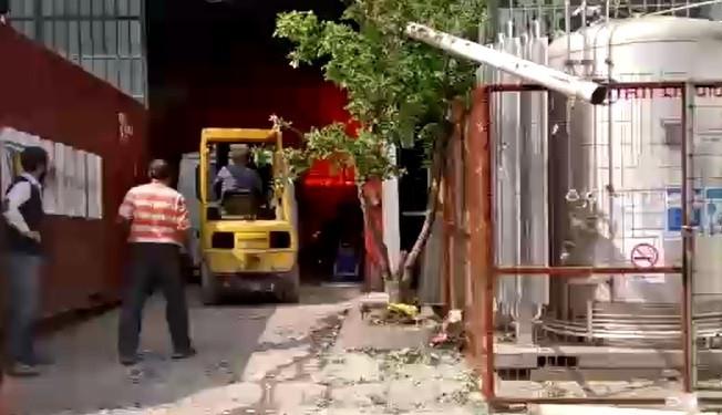 Bursa'daki patlama anı kamerada