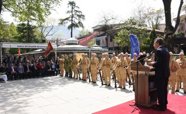 Jandarma taburuna temsilî uğurlama
