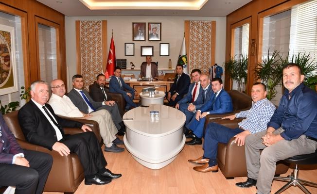Başkan Taban Tahtamukay Heyetini Ağırladı