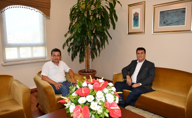 Binbaşı Bozkurt'tan Başkan Dündar'a Veda Ziyareti