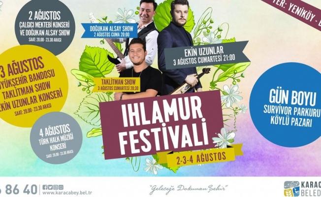 Ihlamur Festivali 2 Ağustos'ta Yeniköy Atatürk Meydanı'nda başlıyor...