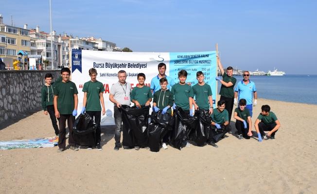 Dersimiz, sahil temizliği