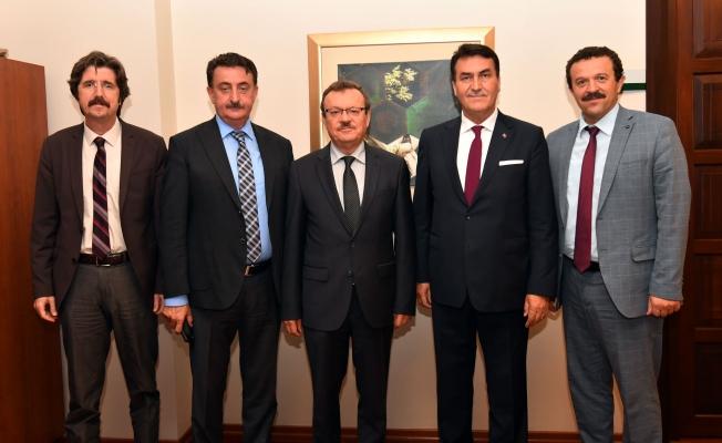 Rektör Kılavuz'dan Başkan Dündar'a Ziyaret