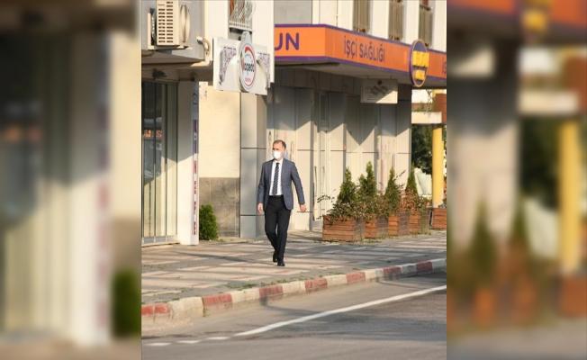Başkan Taban Belediyeye Yürüyerek Geldi
