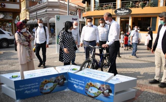 Çarşı Merkezinde Bisiklet Park Noktaları Oluşturuldu