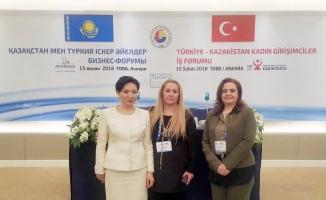 Edirne KGK Türkiye-Kazakistan Kadın Girişimciler İş Forumu'na katıldı