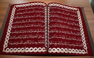 Kumaştan Kur'an-ı Kerim sergisine büyük ilgi