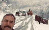 İneöl'de kar yağışı hayatı olumsuz etkiliyor