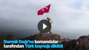 Darmık Dağı'na komandolar tarafından Türk bayrağı dikildi
