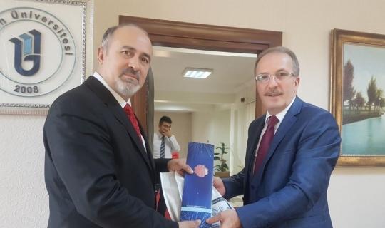 İhlas Haber Ajansı'ndan Rektör Orhan Uzun'a ziyaret