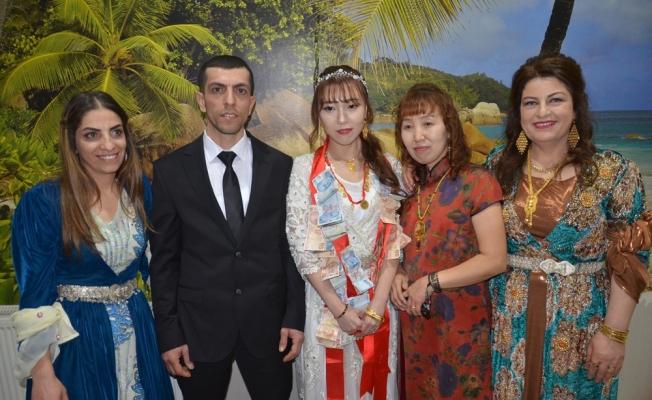 Yüksekova'ya Çinli gelin