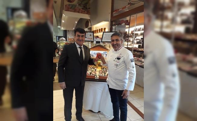 Başkan Dündar'dan ödüllü pasta şefine ziyaret