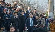 Alinur Aktaş heyelan bölgesinde incelemelerde bulundu