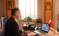 Kardeş Şehirlerle İletişim Telekonferansla Devam Ediyor