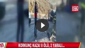 Korkunç Kaza! 8 Ölü, 2 Yaralı
