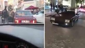 Murat 131#039;le lüks AVM#039;de aracı valeye veren adam kırıp geçirdi